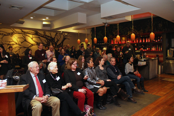 February 26 - The NY launch event  at GustOrganics Restaurant attracted a crowd of more than 100